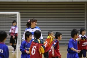 女子選抜の選手達も楽しく子供達と楽しい時間を過ごしました。