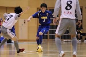 ▲昨季、東海1部でも得点力を存分に発揮していた芝田秀太(8)はこの試合3得点。