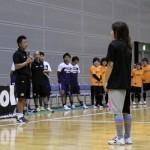 ▲開会式で挨拶をする静岡県男子県選抜の櫻井監督。