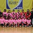 フレッシュな顔ぶれとなった今季の静岡県女子フットサル選抜。
